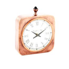 8122 SQUARE CLOCK COPPER