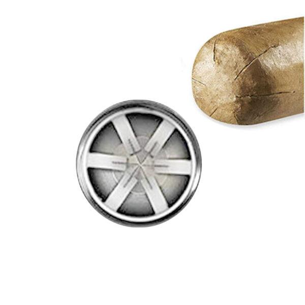 Shuriken Cigar Cutter Silver 2