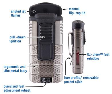 Xikar - Tactical - Triple-jet Flame Lighter - JJ Cale