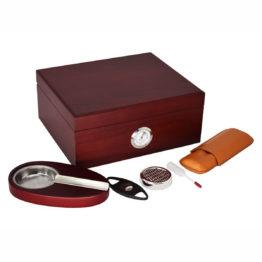 45 Red Humidor Gift Set SK1107