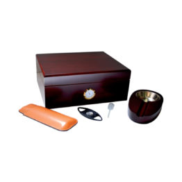 Humidor SK1107 Gift Set Cherry Wood 1