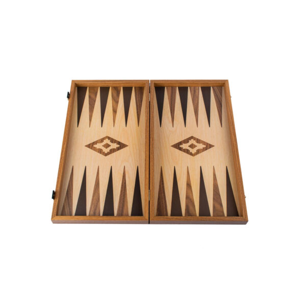 TXL1KD-OAK WALNUT-REPLICA-WOOD-Backgammon