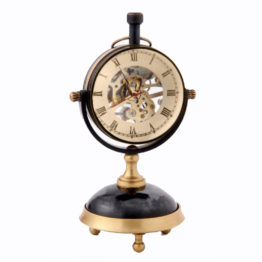 48588T-Clock-Skeleton-Stand-All-Brass-Blk-Ball-top