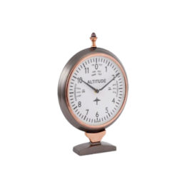 55284T Clock Aviation Style grey Cop 1