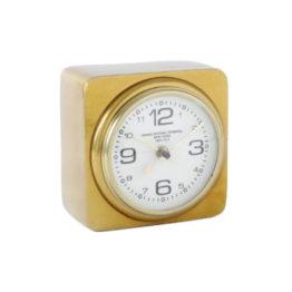 56485T Clock Square Brass 1