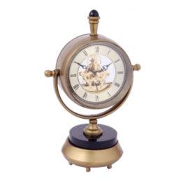 46856 Clock Skeleton Stand Brz Blk