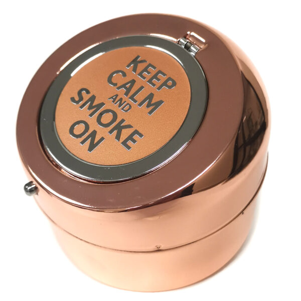 1234 Angelo Ashtray Rose Gold open close
