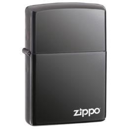9042 Zippo Black Ice 150zl with logo