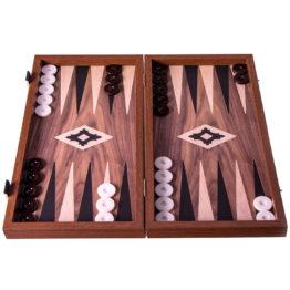 293 Replica Wood Backgammom walnut display 1