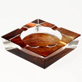 9157 Tobacco Leaf Crystal Cigar Ashtray